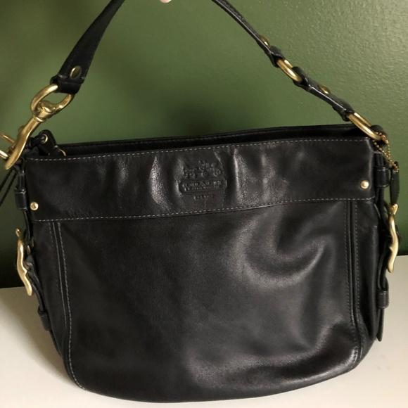 b6b048056aaa Coach Handbags - COACH EUC Black   Brass Sutton Hobo